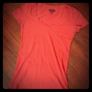 American Eagle Outfitters Coral Tee